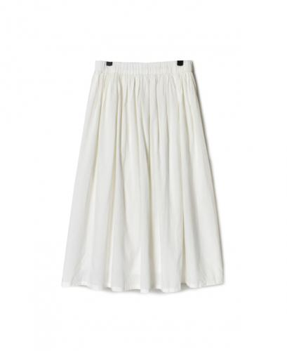 NSL20564 FRENCH RAYON GATHERED SKIRT