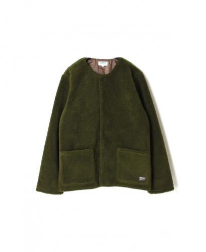 NAM1971Y FLEECE FRONT ZIP&SNAP NO COLLAR JACKET