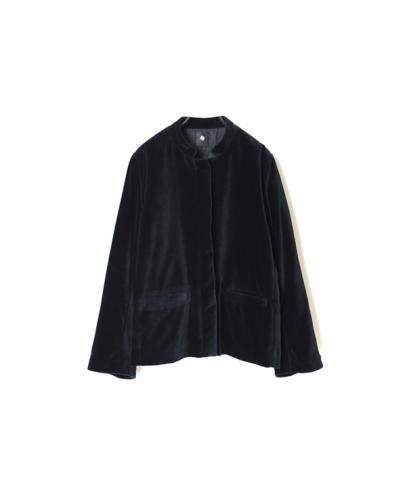 INMDS20751 COTTON VELOUR STAND COLLAR JACKET