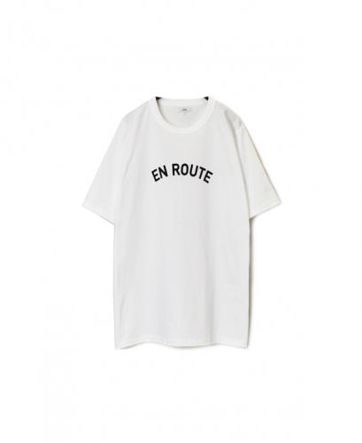 "NFA1802P26 ""ROUTE"" COTTON JERSEY CREW NECK OVERSIZED S/SL T"