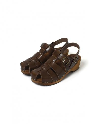 NEP0801 REGULAR HEEL WOODEN SOLE VITAGE SANDAL STRAP