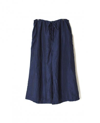 LNHT1713LS COTTON LINEN STRIPE OVERDYE EASY PANTS