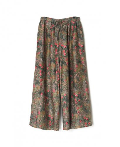 NSL21056 COTTON SILK FLOWER PRINT EASY PANTS