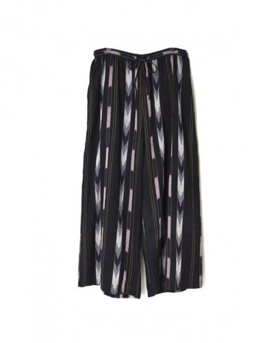 NSL21076 COTTON HANDLOOMED IKAT WIDE EASY PANTS