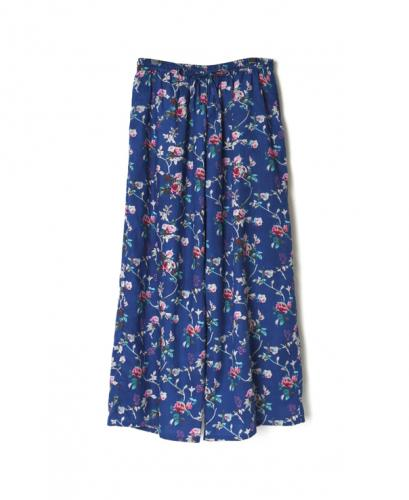 NSL21065 COTTON VOILE ROSE FLOWER PRINT WIDE EASY PANTS